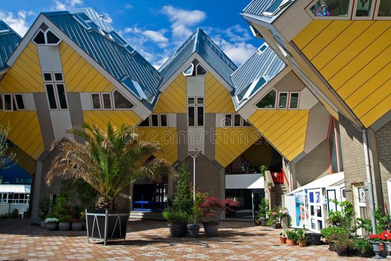 kubieke huizen in rotterdam stock afbeelding afbeelding