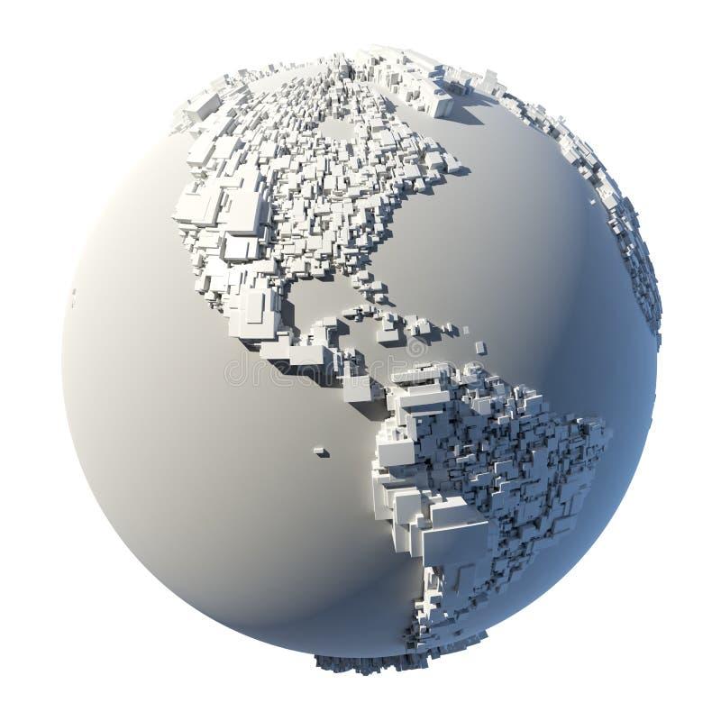 Kubieke structuur van de aarde royalty-vrije illustratie