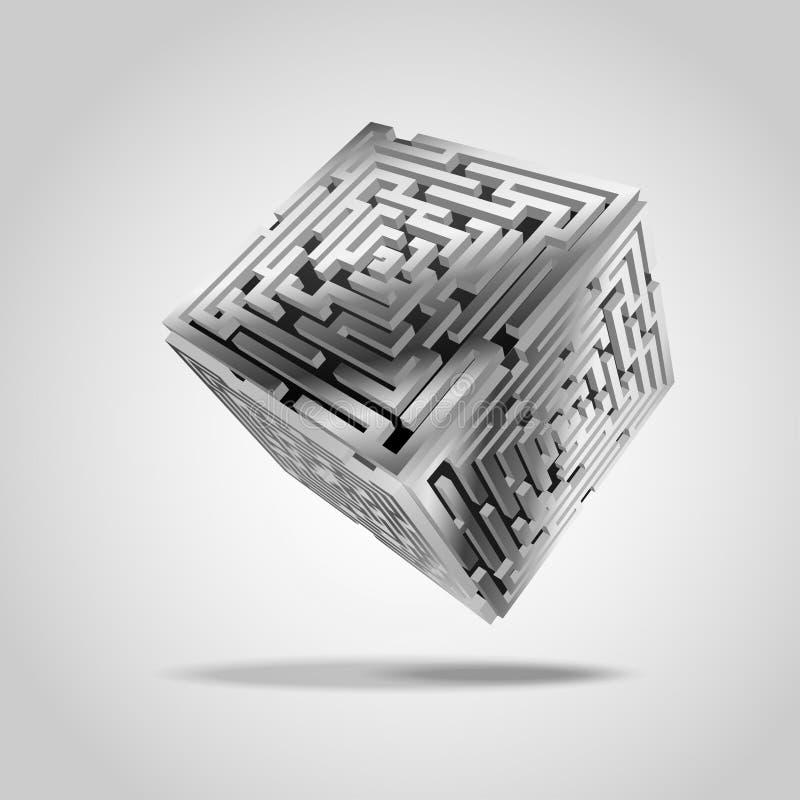 kubik stock illustrationer