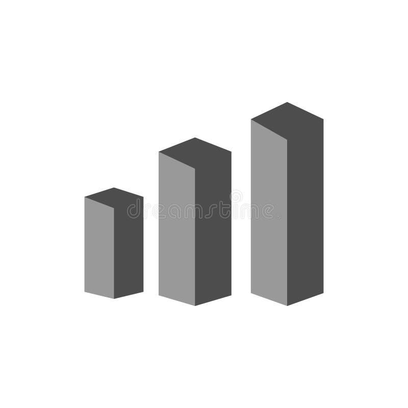 Kubik och effektivitetssymbol Beståndsdel av finansiellt, diagram och rapportsymbolen för mobilt begrepp och rengöringsdukapps De royaltyfri illustrationer