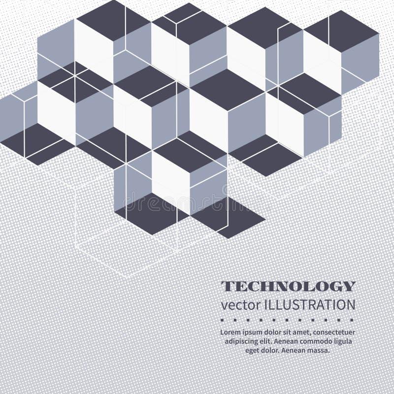 Kubik- och polygonal former stock illustrationer
