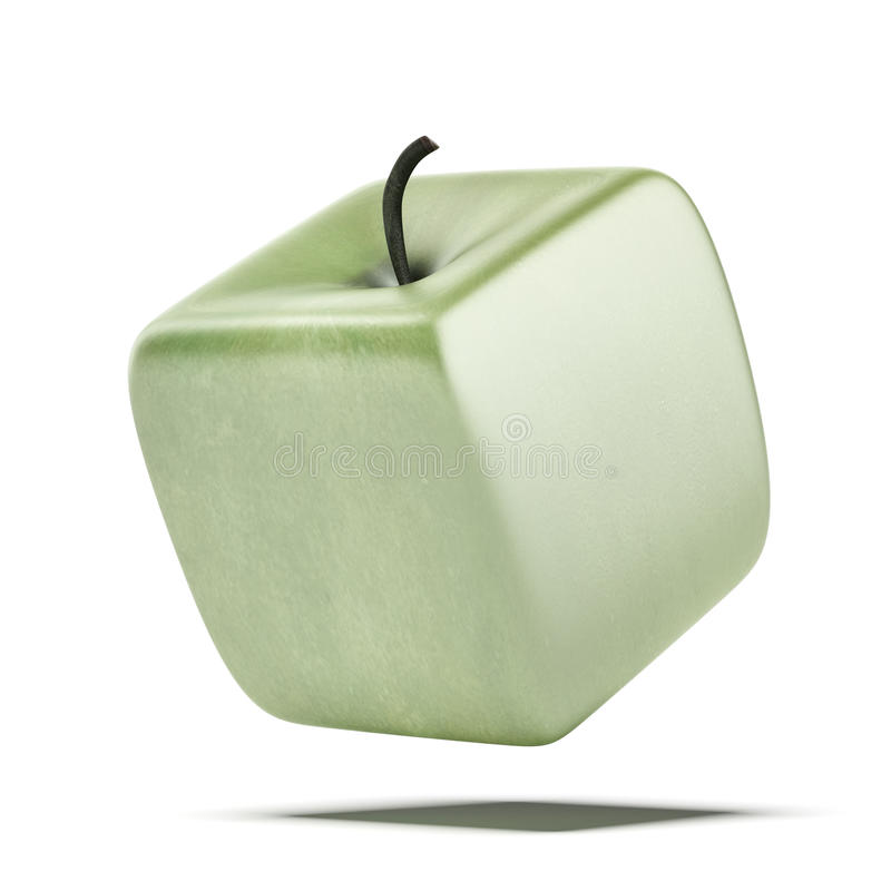 Kubikapfelfrucht lizenzfreie stockfotos