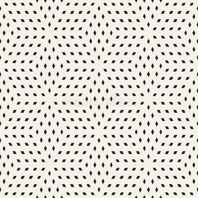 Kubikgitter-mit Ziegeln deckende endlose stilvolle Beschaffenheit Vektornahtloses Schwarzweiss-Muster stock abbildung