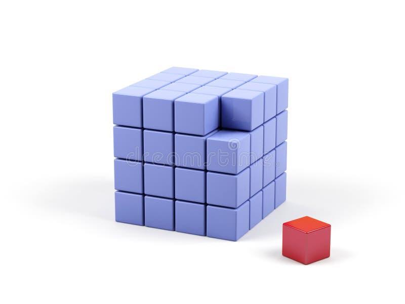 kubillustration för abstrakt begrepp 3d vektor illustrationer