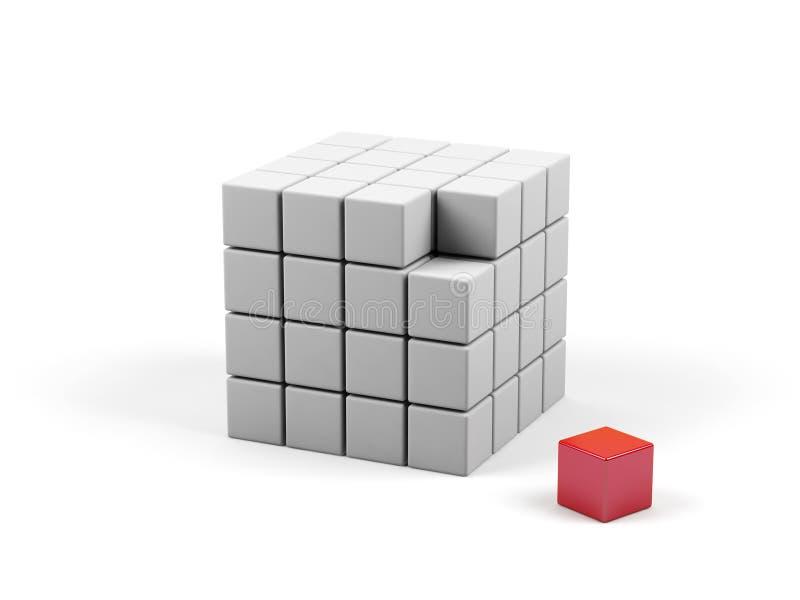 kubillustration för abstrakt begrepp 3d stock illustrationer