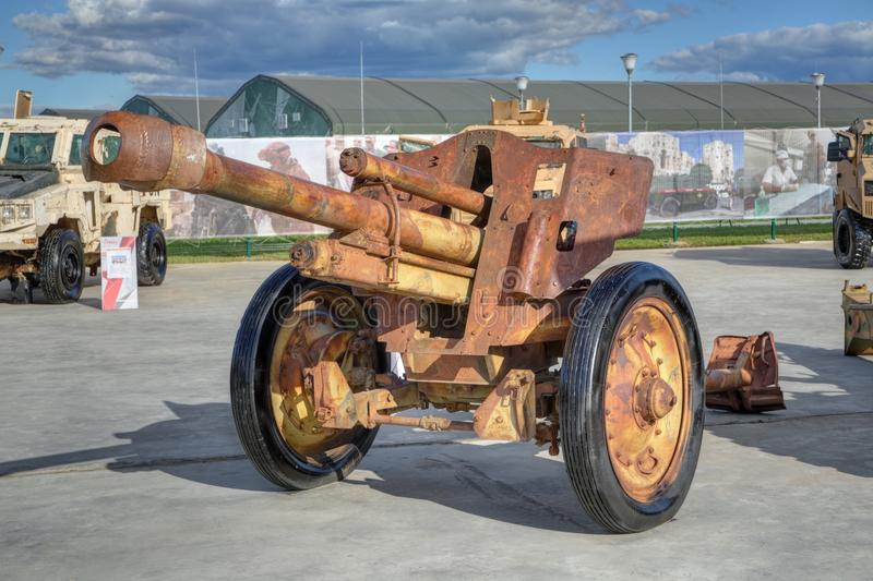 Old howitzer stock photography