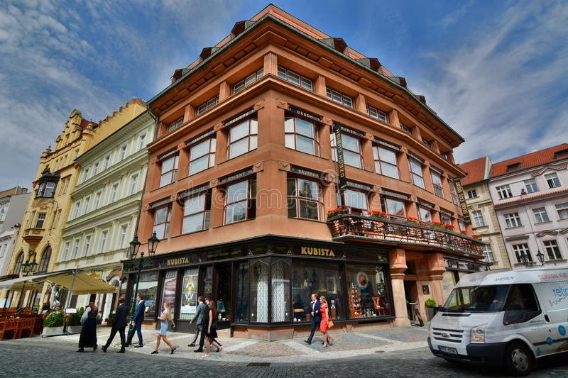 Kubista house or House at the Black Madonna. Prague. Czech Republic royalty free stock images