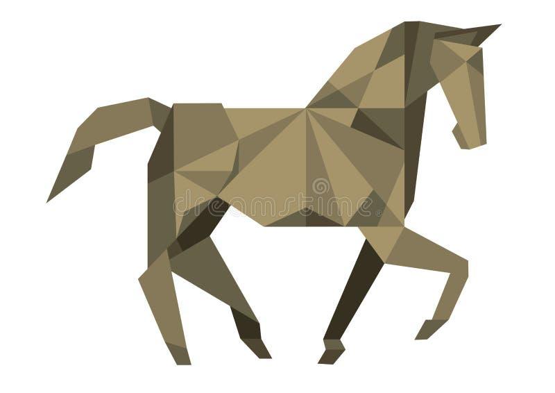 Kubistisches Pferd vektor abbildung