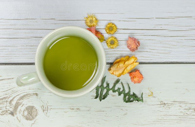 kubki zielonej herbaty fotografia stock