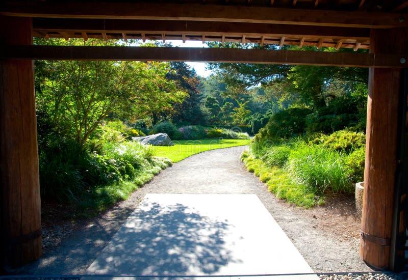 Kubota Garden entrance stock photography