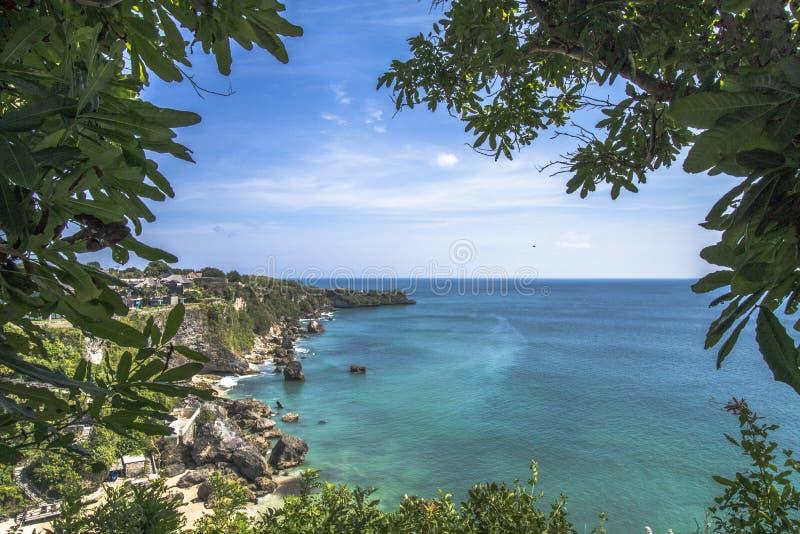 Kubu海滩阿亚纳 免版税库存照片
