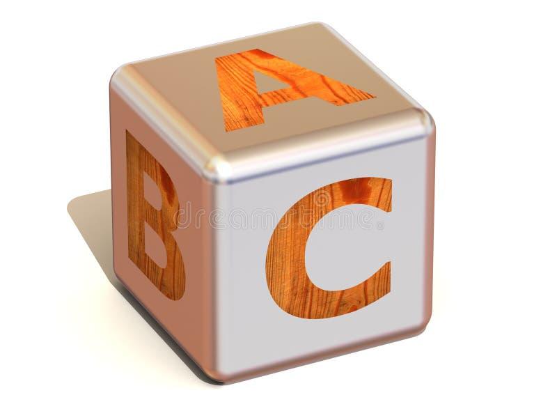 Kubus met ABC. Alfabet royalty-vrije illustratie