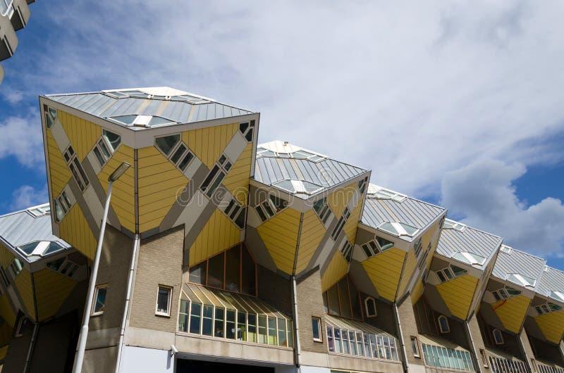 Kubushuizen in het centrum van Rotterdam royalty-vrije stock fotografie