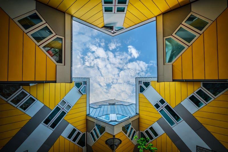 Kubushuizen in Rotterdam, Nederland royalty-vrije stock fotografie