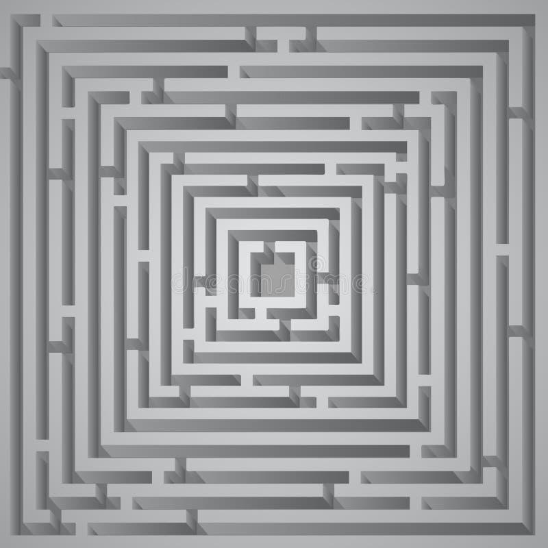 Kubuslabyrint vector illustratie