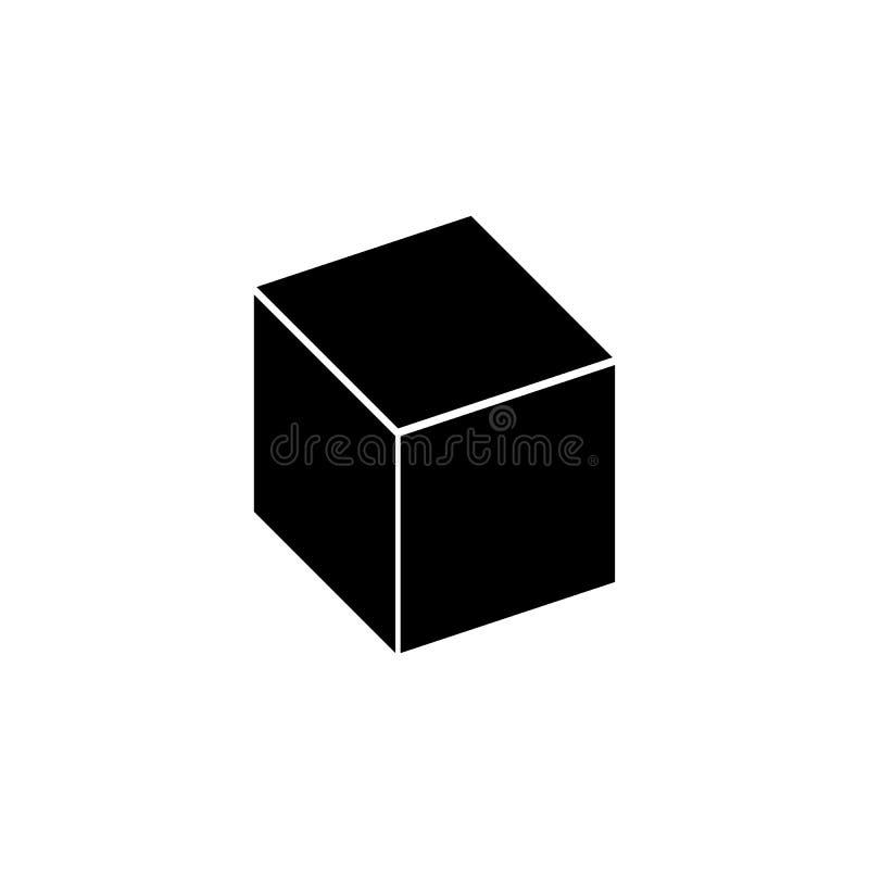 Kubuspictogram Element van eenvoudig pictogram voor websites, Webontwerp, mobiele app, informatiegrafiek Tekens en symboleninzame stock illustratie