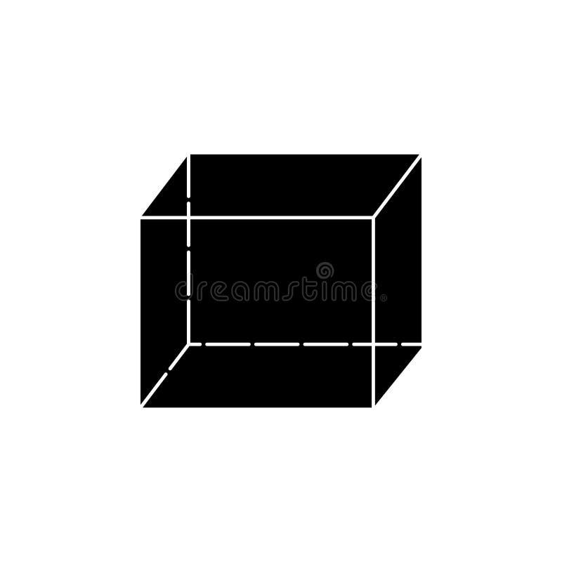 Kubuspictogram Elementen van Geometrisch cijferpictogram voor concept en Web apps Het illustratiepictogram voor website ontwerpt stock illustratie