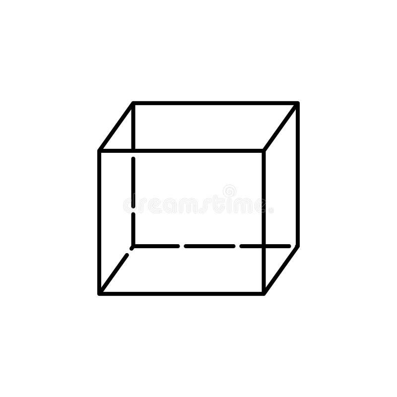 Kubuspictogram Geometrisch cijferelement voor mobiel concept en Web apps Dun lijnpictogram voor websiteontwerp en ontwikkeling, a vector illustratie
