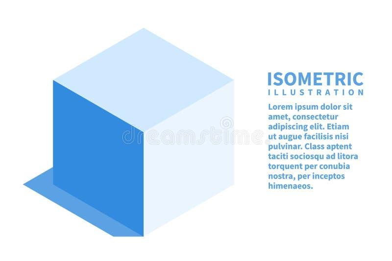 Kubuspictogram Isometrisch malplaatje voor Webontwerp in vlakke 3D stijl Vector illustratie royalty-vrije illustratie