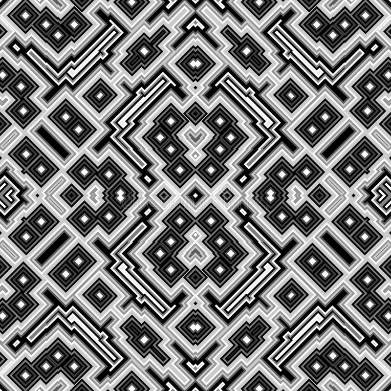 Kubussen caleidoscopische naadloze geproduceerde textuur stock illustratie