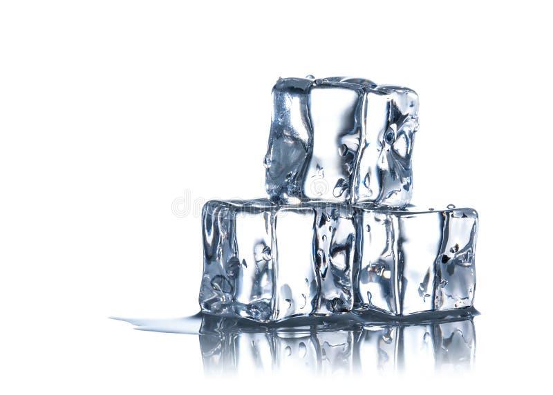 Kubussen van ijs stock fotografie