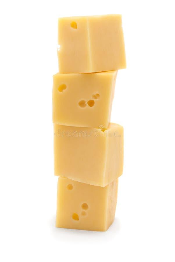 Kubussen van kaas royalty-vrije stock afbeelding