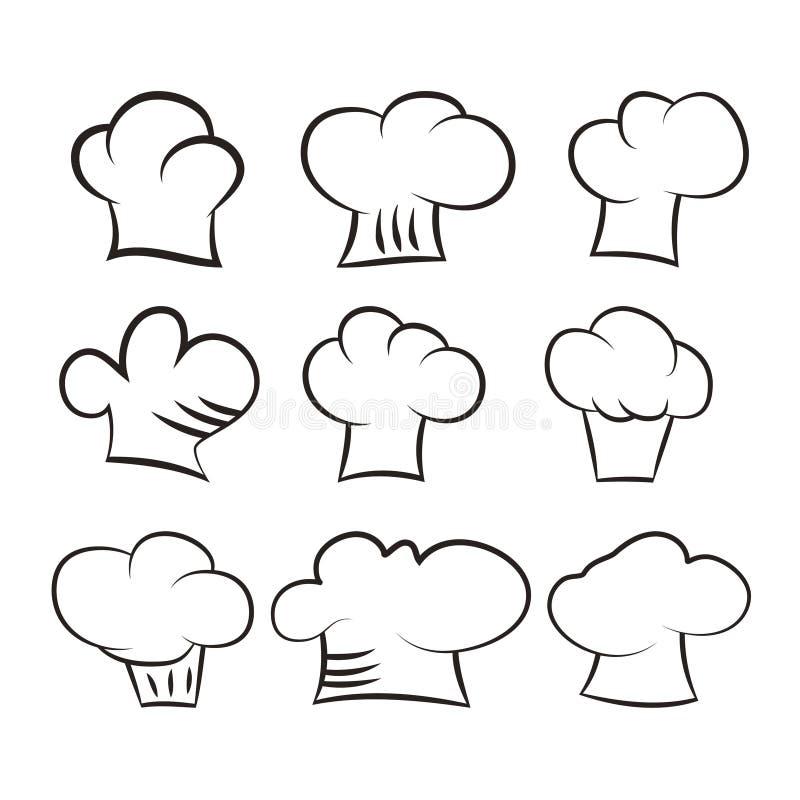 kucbarscy kapelusze ustawiający na białym tle ilustracji