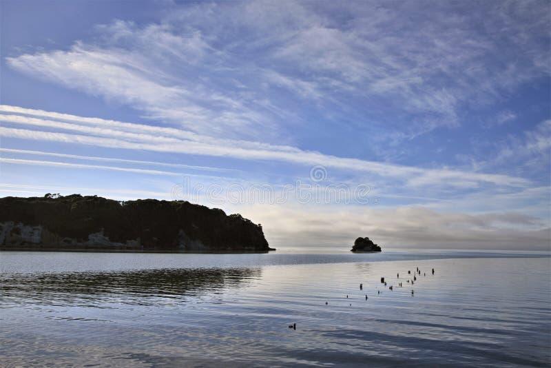 Kucbarska cieśnina Collingwood Nowa Zelandia zdjęcie royalty free