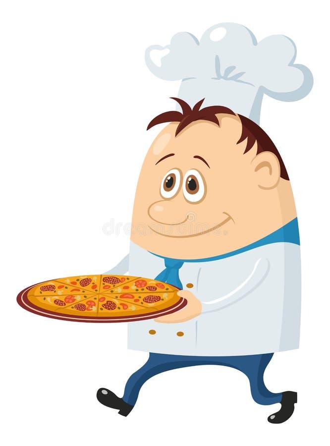 kucbarska pizza ilustracja wektor