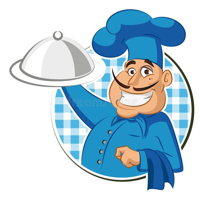 Kucbarska restauracja chef ilustracji