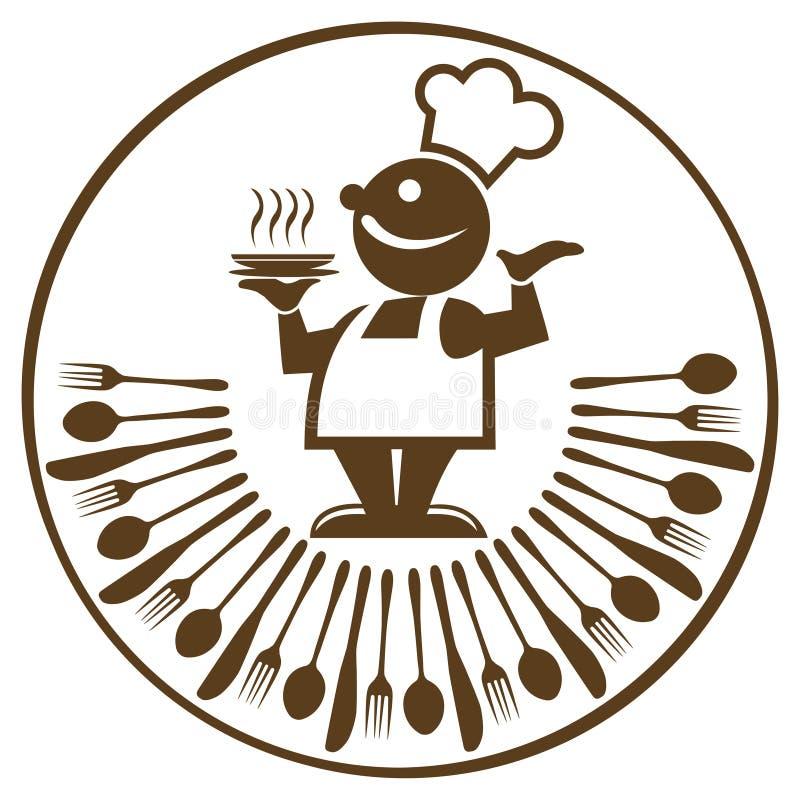 kucbarski jedzenie ilustracja wektor