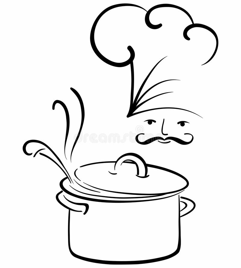 kucbarski jedzenie royalty ilustracja