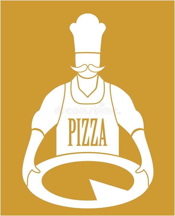 Kucbarski pizza wektor ilustracji