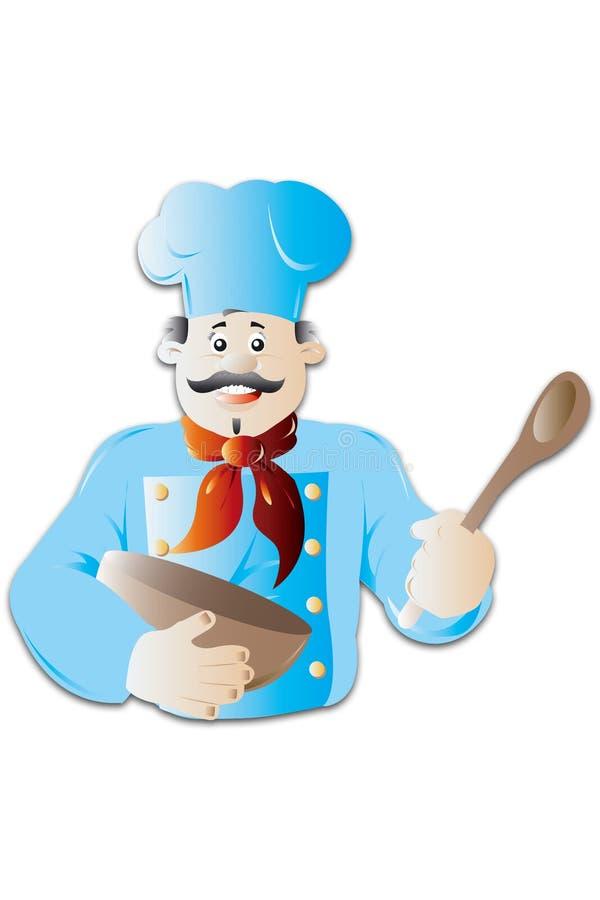 kucharz ilustracja wektor