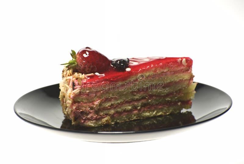 Kuchen auf der Platte lizenzfreie stockfotografie