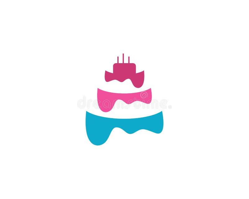 Kuchen ilustration Logovektor-Schablonennahrung stock abbildung