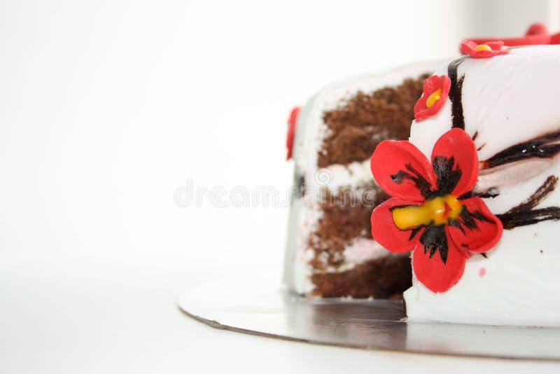 Kuchen ist köstliches Weiß foto stockfotografie