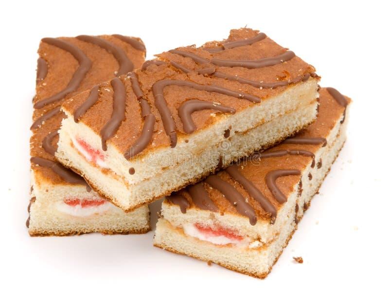Kuchen mit Erdbeeremarmelade stockbilder