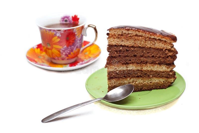 Download Kuchen mit Kaffee stockbild. Bild von schokolade, kaffee - 12202001