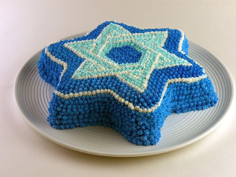 Kuchen Mit Magen David (Davidsstern) Stockfotos