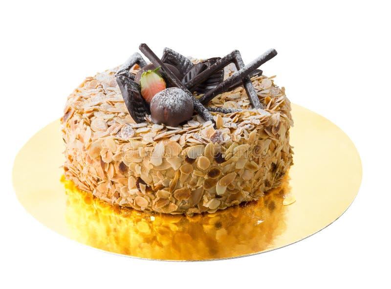 Kuchen mit Mandeln stockfotos