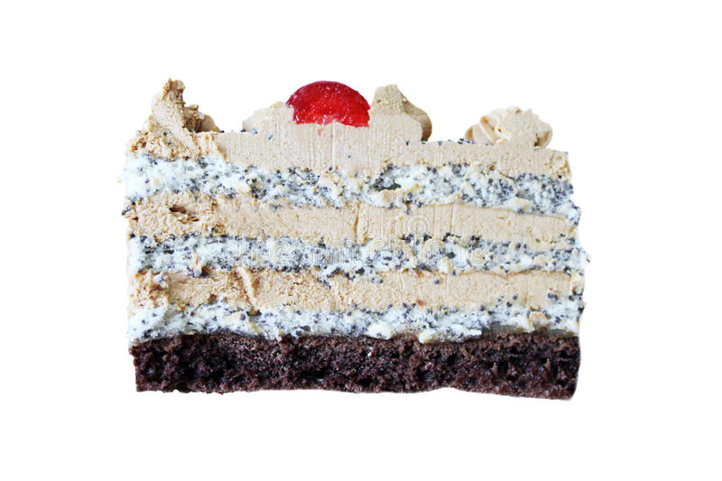 Kuchen mit Mohn stockbilder