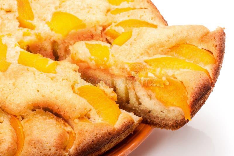Kuchen mit Pfirsichen lizenzfreie stockfotografie