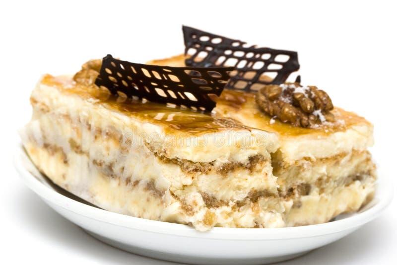 Kuchen mit Schokolade stockbilder