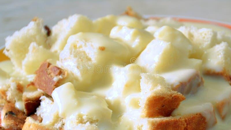 Kuchen mit Vanillepuddingcreme lizenzfreie stockfotografie