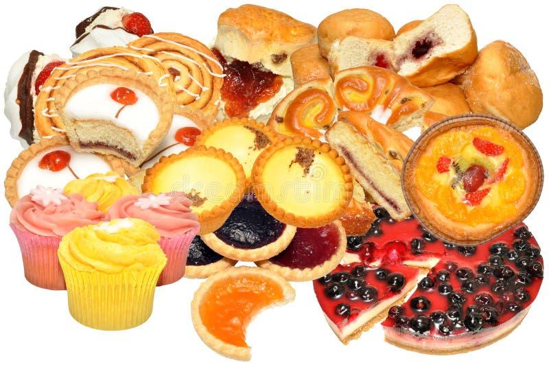 Kuchen-und Gebäck-Zusammenstellung lizenzfreie stockfotos