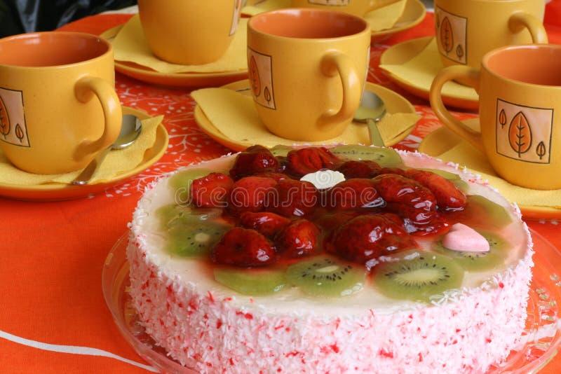 Kuchen und Kaffee lizenzfreies stockbild