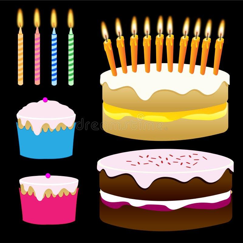 Kuchen und kleine Kuchen stockbild