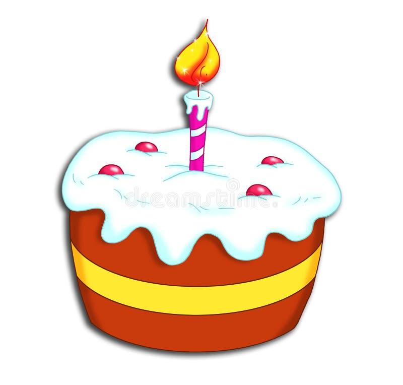 Kuchen Von Alles Gute Zum Geburtstag Stock Abbildung