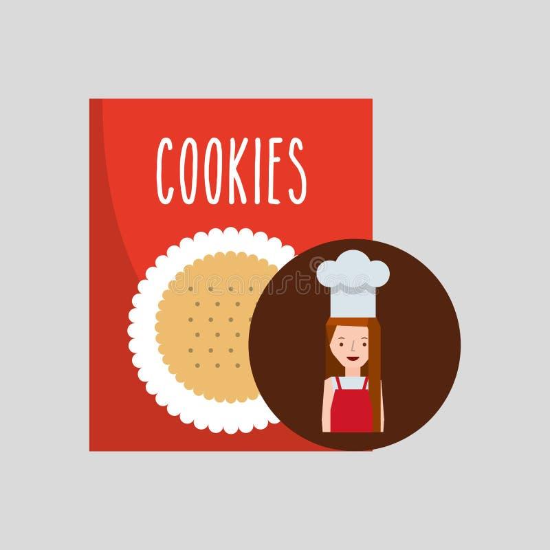 Kuchenki dziewczyny ciastka mieszanka ilustracji